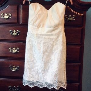 🌸NWOT ASOS Ivory Lace Strapless Dress!🌸